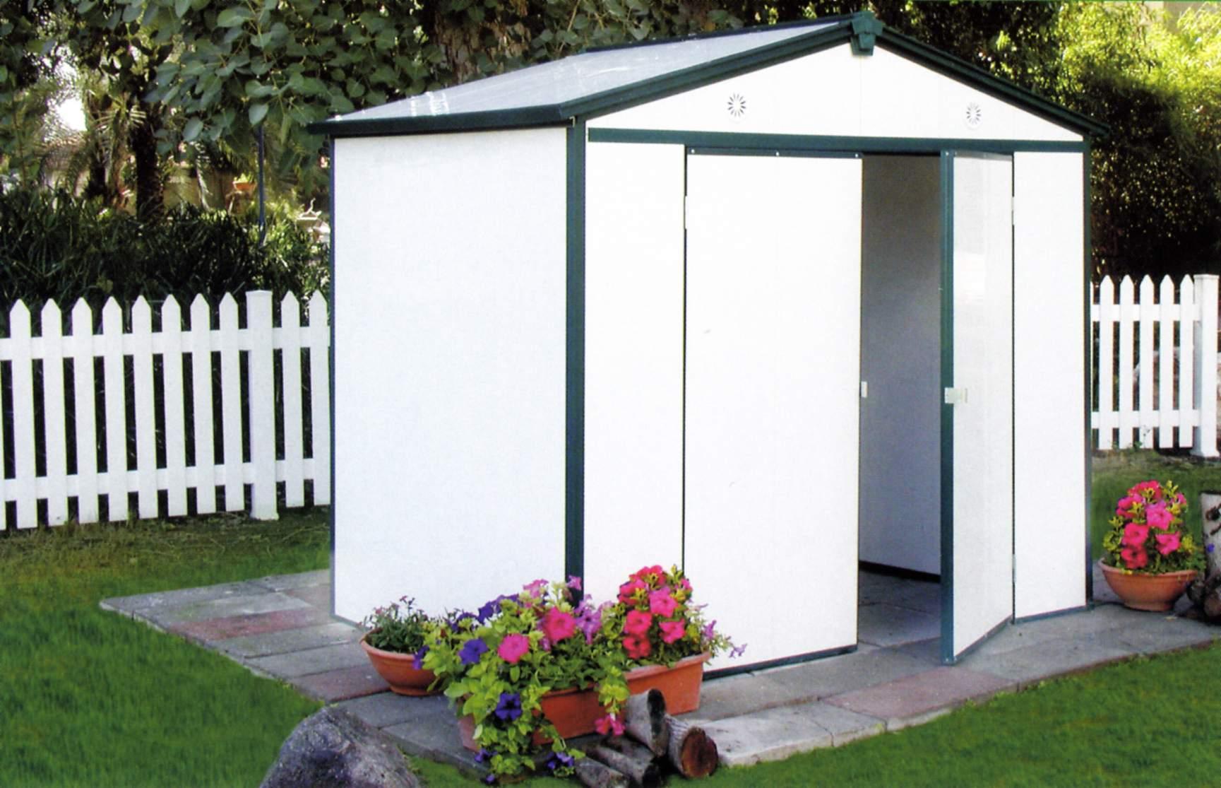 Interdima caseta de jard n pvc modelo inter 64 aislada for Casas para jardin de pvc