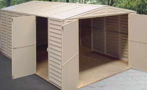 Duramax bergerac almac n garaje caseta de pvc 10 15 for Casetas de resina para jardin