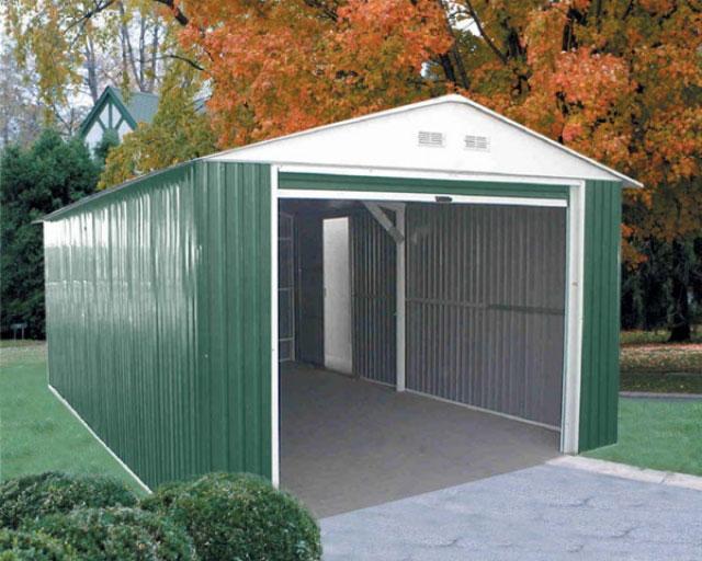 Duramax lyon garaje de metal para vehiculos 20x12 for Casetas de metal para jardin