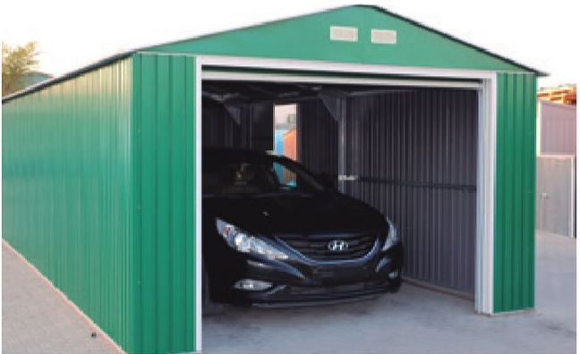 duramax lyon garaje de metal para vehiculos 20x12
