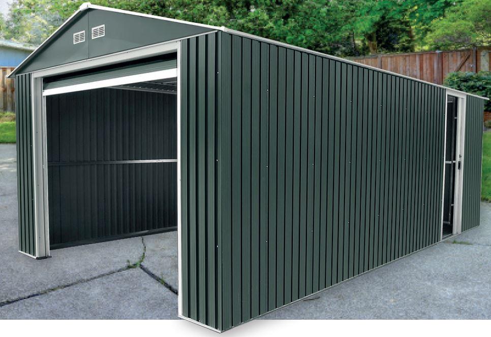 Duramax lyon ii garaje de metal para vehiculos 20x12 - Garaje de coches ...