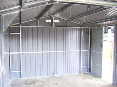 Duramax lyon garaje de metal para vehiculos 20x12 for Casetas de chapa galvanizada precios
