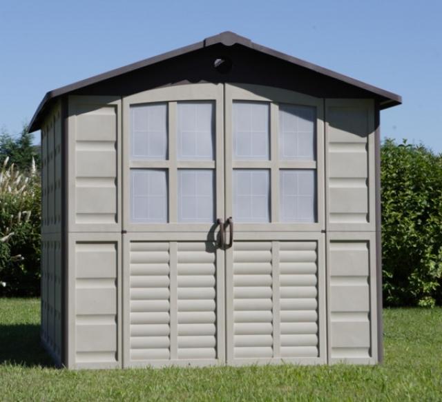 Shaf denia caseta jard n de resina 4 5 m2 for Casetas de jardin de resina