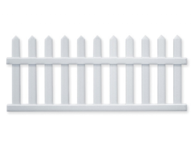 Duramax vallas de pvc picket 6 for Vallas de pvc para jardin