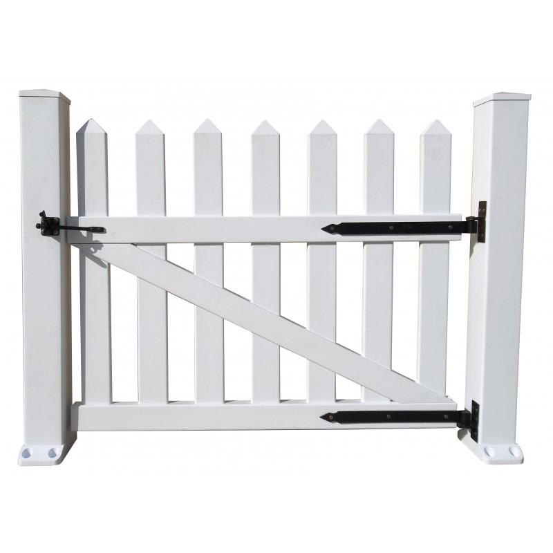Duramax puerta para vallas de pvc for Vallas de pvc para jardin
