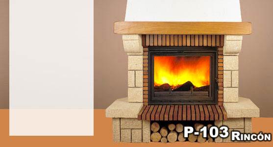 Hergom revestimiento chimenea piedra gard madera p 103 - Revestimientos de chimeneas ...