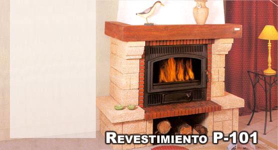 Hergom revestimiento chimenea piedra gard madera p 101 - Revestimientos de chimeneas ...