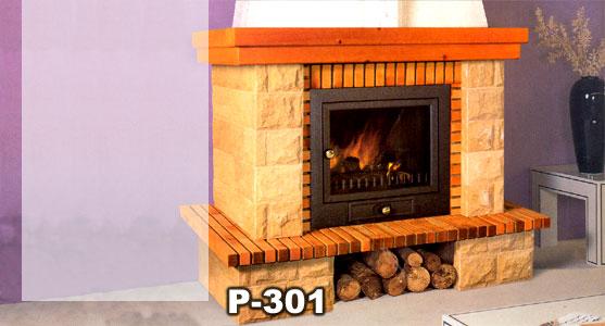 Hergom revestimiento chimenea piedra madera p 301 h 02 for Chimeneas prefabricadas