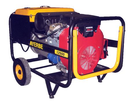 Ayerbe ay 12500 h tx generador el ctrico gasolina motor for Generador electrico honda precio