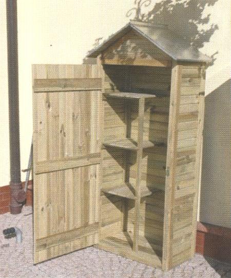 Nortene armario mediano para herramientas de jard n 413152 for Armario madera jardin