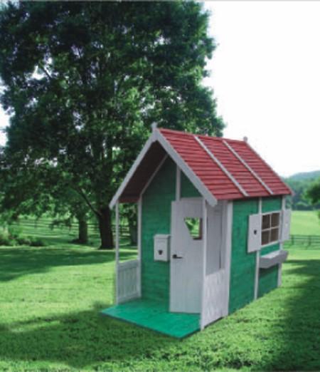 Seifil percan casita verde para ni os jard n y for Casitas de jardin para ninos