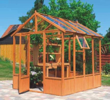 Seifil percan invernadero luminoso madera 213 x 248 413305 for Viveros caseros