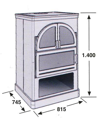 Hergom mueble horno de le a aranda for Mueble para estufa