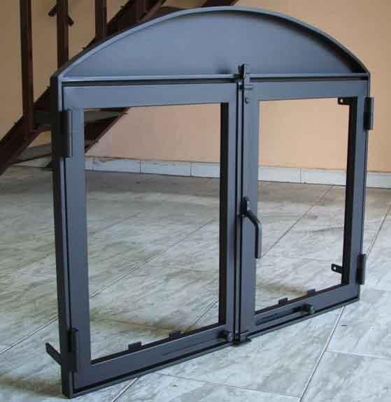 Puertas Para Chimeneas De Obra A Medida Ferreteria Bricolandia - Modelos-de-chimeneas-de-obra