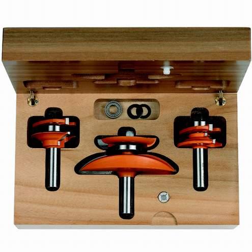 Cmt juego de 3 fresas para puertas de cocina perfil b - Fresas para madera ...