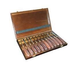 Lombarte hss h12tlg juego de 12 mini gubias para - Gubias para madera ...