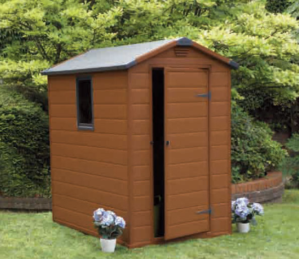 Keter caseta cobertizo jardin resina manor 4 6 poligal 6 4 for Casetas de jardin de resina aki