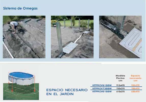Gre kit prov 9188 w serie amazonia piscina elevada de for Piscinas de acero enterradas