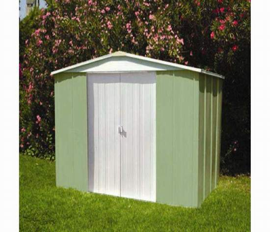 Jasmine 250 caseta de jardin metalica for Casetas para jardin baratas
