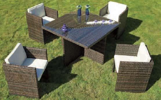 Tryun set rattan kompac mesa sillas para jardin ty 921 for Mesas y sillas para jardin exterior