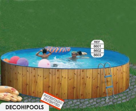 Toi 8602 veta piscina redonda elevada de acero en kit for Funda piscina redonda