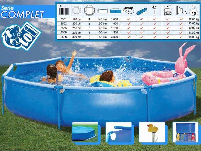 Toi 8502 complet piscinas tubulares desmontables for Ofertas piscinas desmontables acero