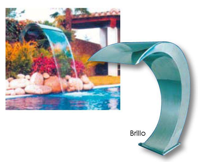 Quimicamp cascada para piscina acero inoxidable brillo for Quimicamp piscinas