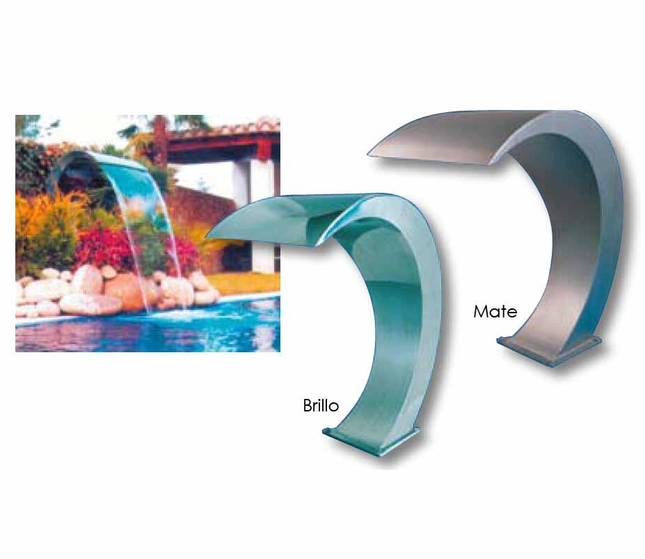 quimicamp cascada piscinas acero inoxidable mate 522206