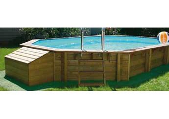 Quimicamp piscina americana prefabricada elevada de for Piscina elevada madera