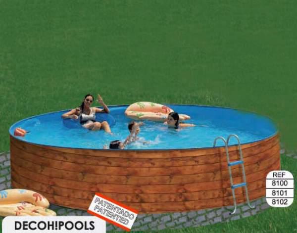 Toi 8100 etnica piscina sobre suelo de acero for Piscinas sobre suelo