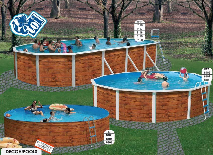 Toi 8120 etnica piscina sobre suelo de acero - Piscinas sobre suelo ...