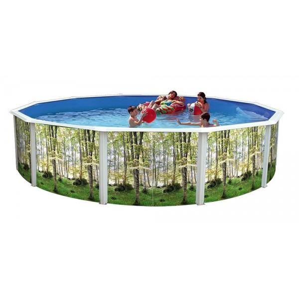 Toi 8324 piscina elevada circular doce lados bosque - Piscinas desmontables rigidas ...