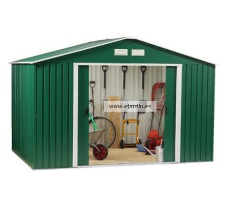 Duramax colossus cobertizo metalico jard n 10 10 9 70 m2 for Cobertizo de herramientas
