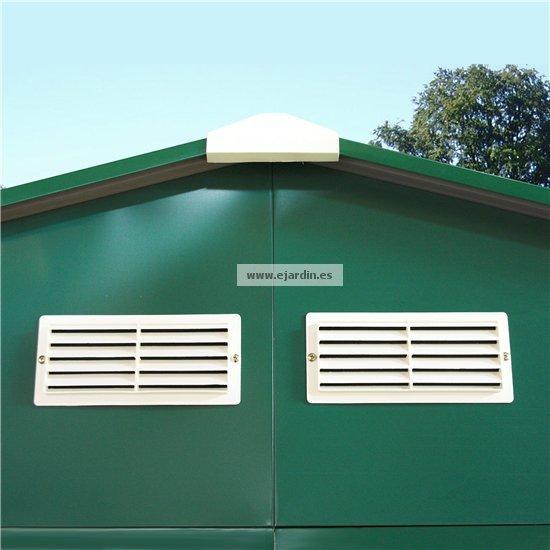 Duramax colossus cobertizo metalico jard n 10 10 9 70 m2 for Casetas jardin metalicas ocasion