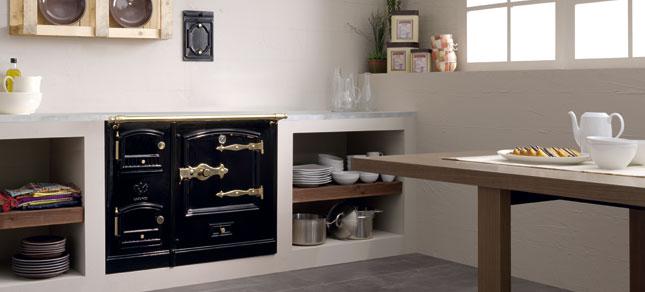 Lacunza cocina calefactora domestica abierta obra - Cocinas abiertas rusticas ...