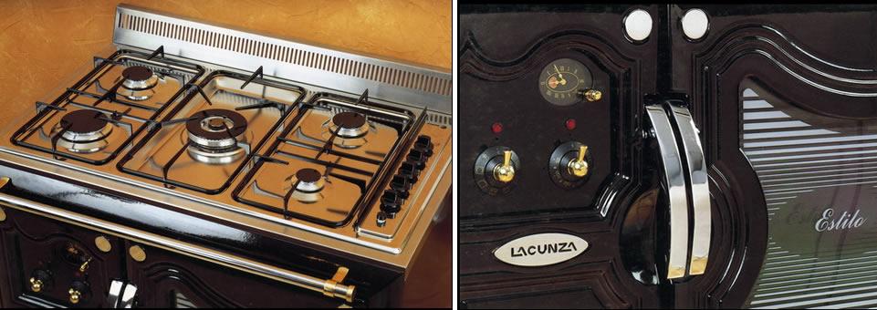 Lacunza cocina estilo electrica gas Cocina encimera electrica