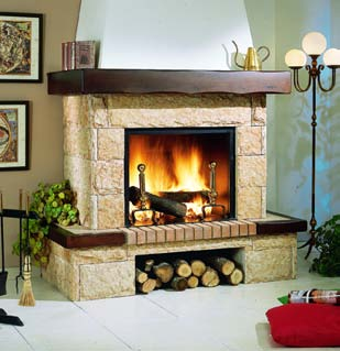 Chimenea de ladrillo perfect de chimenea with chimenea de ladrillo good el de ladrillo with - Chimenea ladrillo ...