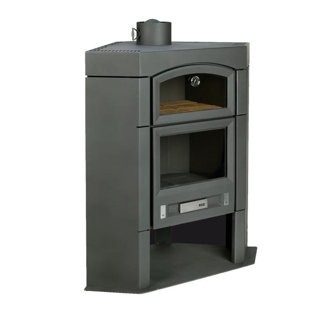 Kli2 es 100 rh estufa de le a rinconera con horno es100rh - Estufas con horno de lena ...