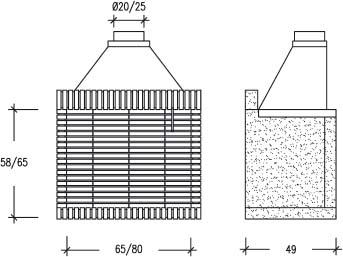 Rofer rodi 80 l barbacoa hogar ladrillo refractario - Medidas de barbacoas ...