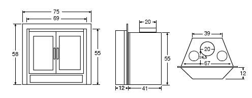 Salgueda cassette compacto de le a pireo 1 p una puerta - Medida de puertas ...