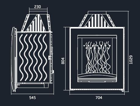 Boxflam invicta hogar de le a moderno vertical cuir 6561 44 for Hogar a lena medidas