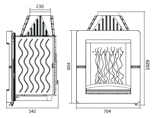 Boxflam invicta hogar moderno de le a vertical axis 6564 44 for Hogar a lena medidas
