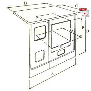Hergom tbn 7 le a cocina abierta - Cocinas bilbainas calefactoras ...