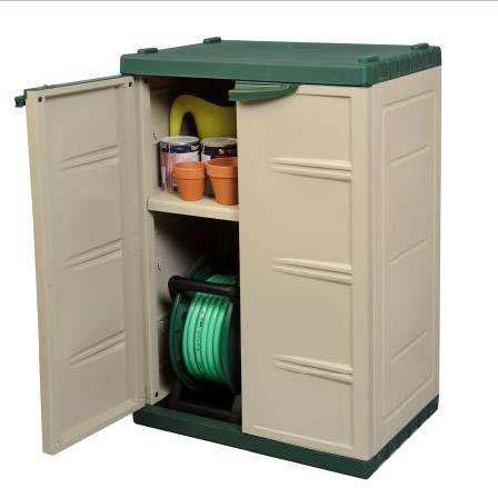 Mini cabinet armario de resina jardin for Armario plastico jardin