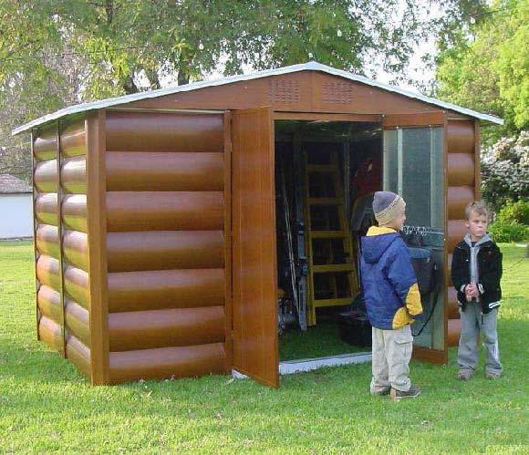 Steel max 207 caseta metalica jardin imitaci n madera 4 for Casetas de plastico para jardin