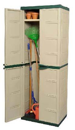 Tall cabinet armario resina para jardin for Armario para jardin plastico