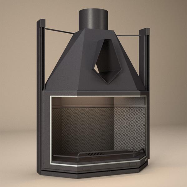 Focgrup fv 10 hogar de le a prismatico focvision for Diseno de hogar a lena