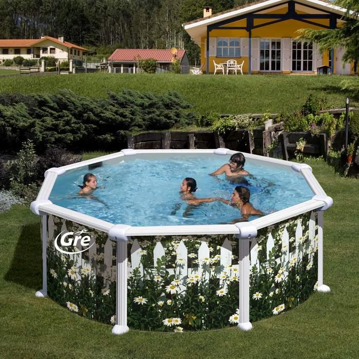 Gre kitpr558j margarita piscinas elevadas de acero kit - Piscinas elevadas de obra ...