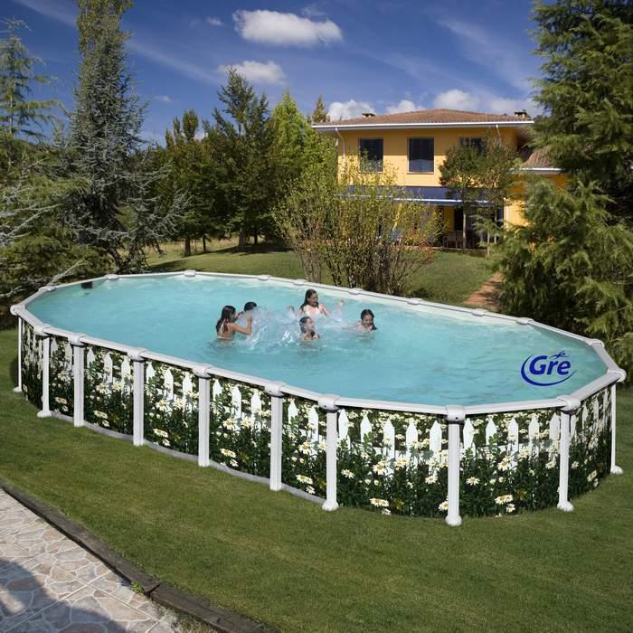 Gre kitprov6188j piscina r gida de acero en kit kit for Piscina rigida rectangular