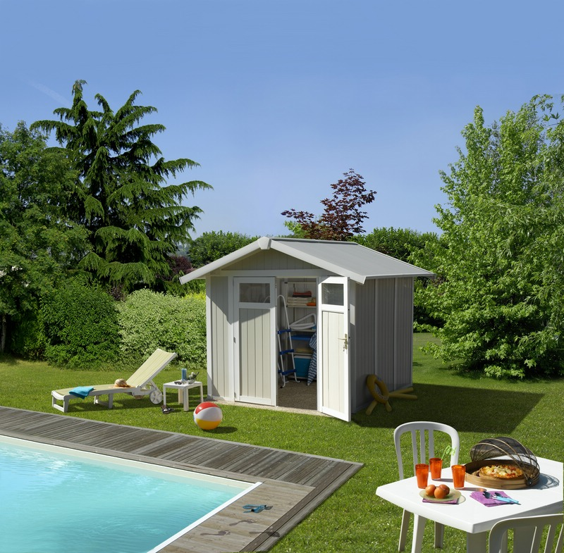 Grosfillex linea utility 4 9 garden home caseta de for Caseta de pvc para jardin